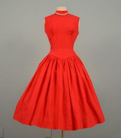 Vintage 50's dress with pin tucking.  Absolutely beautiful!!!