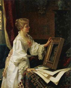 A Compelling Portrait (1886).Jan Frederik Pieter Portielje (Netherlands,1829-1895/1908)