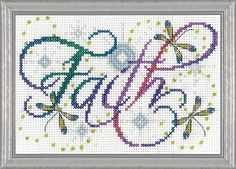 Faith Counted Cross Stitch Kit #crossstitch #faith #cross_stitch_kit #needlework #needlecraft #crafts