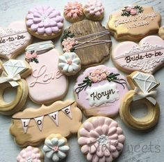 Image result for Bridal Shower Cookies