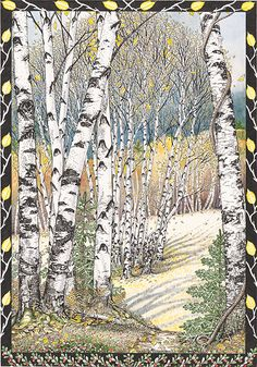 Gray Birch Trees by Kristin Hurlin @ glenarborartisans.com