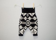 Baby Harem Pants in a Black and Ivory Navajo Tribal Print Unisex Boys Girls on Etsy, $31.82 CAD