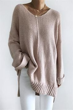 - Lose Strickpullover - - Lose Strickpullover Loose Knit Sweater Hopefour – Lose Strickpullover Chunky Knit Cardigan, Loose Knit Sweaters, Chunky Knits, Pullover Sweaters, Casual Outfits, Fashion Outfits, Womens Fashion, Sweater Knitting Patterns, Knitting Sweaters