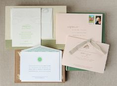 Elegant save-the-dates from Simplesong Letterpress