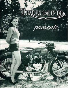 Vintage Triumph motorcycle advert