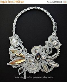 Hey, I found this really awesome Etsy listing at https://www.etsy.com/listing/556167536/on-sale-statement-soutache-necklace