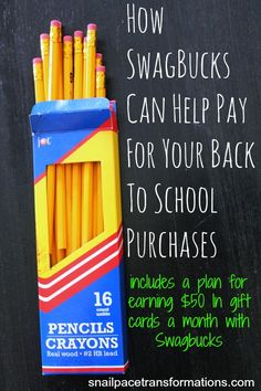 Budget need a bit of help stretching to include back to school purchases? Swagbucks can help.