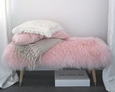 Ottoman Bench, Upholstered Bench, Small Room Bedroom, Calm Bedroom, Bedroom Ideas, Teen Girl Bedrooms, Room Inspiration, Room Decor, Etsy