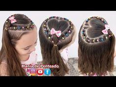 Teen Girl Hairstyles, Girls Hairdos, Girls Braids, Unique Hairstyles, Hairstyles For School, Straight Hairstyles, Braided Hairstyles, Heart Hairstyles, Crochet Weave Hairstyles