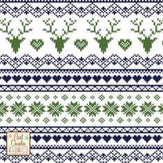 Navy Treetop FairIsle Deer Heart on White Cotton Jersey Blend Knit Fabric - A new Girl Charlee Exclusive design!!  A vintage style Fair Isle stitched sweater design that looks like a knitted sweater pattern with reindeer, hearts, and snowflakes  in our new season perfect treetop green and deep navy blue on our soft white cotton jersey blend knit.  Fabric is light to mid weight with a nice stretch so can be used for many different applications.  Stag deer measures 5cm.  Made in Los Angeles…