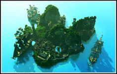 pirate-island-minecraft-creation-map-building