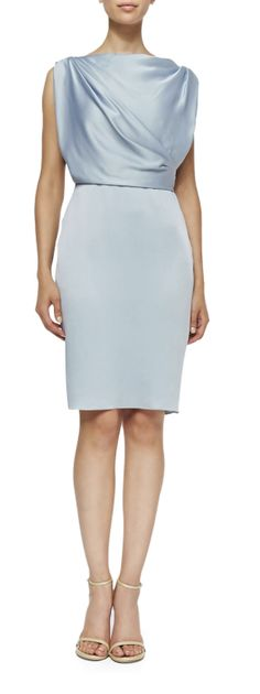 Donna Paulsen's Jason Wu Sleeveless Sheath Dress With Draped Back #SuitsUSA