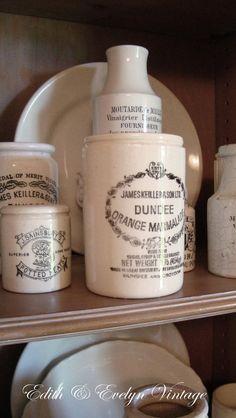 Vintage Dundee Marmalade Pot England Crock Jar by edithandevelyn on Etsy