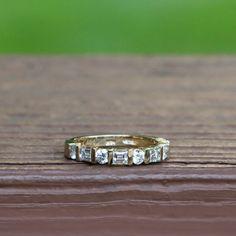 #Baguette and #round diamond wedding ring.  #diamond #wedding #ring #25karats #band
