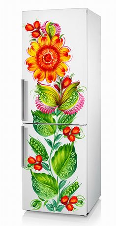What fun!...Refrigerator Decal Vinyl Sticker PETRIKOVKA UKRAINE от ArinaDeco