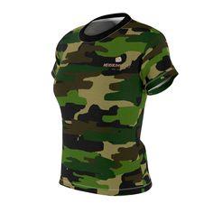 92b4572dd6130 Keiko Women s Camouflage Military Army Print Crew Neck Tee - Made in U –  heidikimurart Camouflage