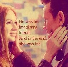 He was her imaginary friend. And in the end, she was his. #DoctorWho #TheTimeOfTheDoctor #EleventhDoctor #AmyPond: