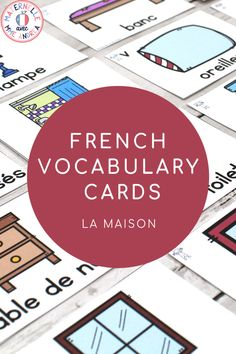 FRENCH House Word Vocabulary Cards (cartes de vocabulaire - la maison) - It's easy to teach and review French House and Home vocabulary using this set of word wall cards! With cards in both colour and black & white, and featuring a clear, easy to read font, your French students will love referring to these versatile cards to help them with writing, spelling, and - of course! - speaking, en français Portable Word Walls, Word Wall Displays, Oral Communication Skills, Sorting Games, Magnetic White Board, Vocabulary Cards, France, Colored Paper, It's Easy