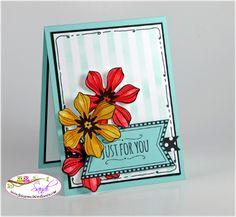 This card is created with the Stampin Up Beautiful Bunch Stamp set for the Freshly Made Sketches Challenge, details are at www.stampingwithsandi.com