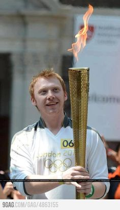 Rupert Grint - 2012 Olympic Torch.. or.. Ron Weasley and the Goblet of Fire?