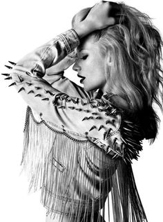 fringe jacket with studs... Pretty unusual that I would like this but I'm kind of in love