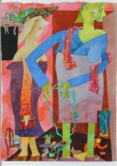 "Gladys Nilsson (American, Born 1940)  ""Sorta Sara Sota"", 1997"