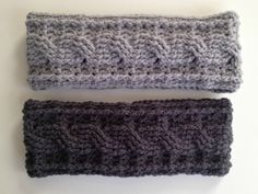 With Love by Jenni: Crochet Cable Ear Warmer-free  Pattern