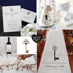 """Key to my heart"" wedding theme inspired by vintage keys perfect for Valentine's Day weddings"
