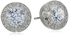 Sterling Silver Cubic Zirconia Round Halo Stud Earrings Amazon Curated Collection http://www.amazon.com/dp/B00DBTRM3U/ref=cm_sw_r_pi_dp_en6dub07J15MC
