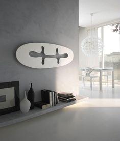 weißer Design-Heizkörper Jungle von Mariano Moroni