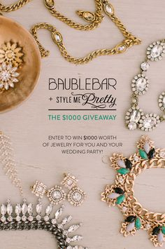 BaubleBar + SMP Giveaway!  Read more - http://www.stylemepretty.com/2013/10/21/baublebar-smp-giveaway/