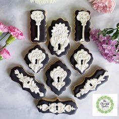 The Cheerful Baker ( Iron Orchid Designs, Custom Cookies, Diy Home Decor Projects, Creative Crafts, Cookie Decorating, Orchids, Cheer, Project Ideas, Key