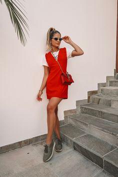 Arezzo + Thássia7 Estilo Cool, Estilo Blogger, Summer Looks, Jennifer Lopez, New Trends, Ideias Fashion, Red And White, Wrap Dress, Boho