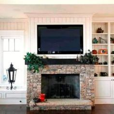 ethanol fireplace with tv above - Google Search | For the Home ...