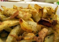 My own recipe for Jo Jo potatoes.
