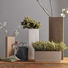 Cute Square Ceramic Vases