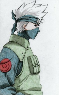 Kakashi from Naruto. Was cleaning up my gallery a bit the other day and realised I have only ever drawn Kakashi once. Kakashi Drawing, Naruto Sketch Drawing, Naruto Drawings, Anime Drawings Sketches, Anime Sketch, Cool Drawings, Pikachu Drawing, Naruto Kakashi, Anime Naruto