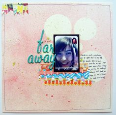 My #scrapbook layout with screenshot from Facetime