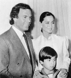 Julio & Enrique Iglesias with Isabel Preysler