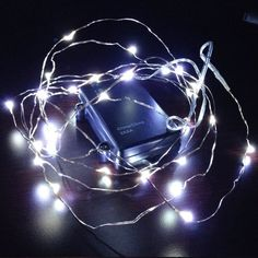 10ft (3m) 30 LEDs Fairy LED Wire String Lights - Starry Starry Lights w/ Timer Battery Box for Festival, Holiday, Christmas, Wedding and Party - Pure White - Battery Powered, Waterproof THL-02 TORCHSTAR http://www.amazon.com/dp/B00GWDJWUI/ref=cm_sw_r_pi_dp_eVysub0P1YD0F
