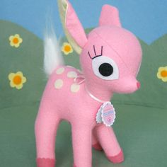 Pink Fawn soft toy. $45 Etsy