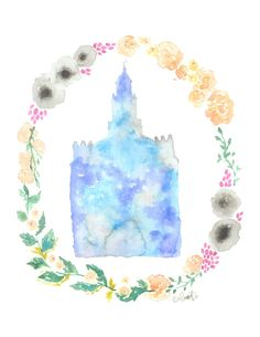 St. George, Utah LDS Temple watercolor print