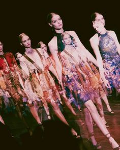 Floral halter neck dresses at Gucci SS15 LFW. More images here: http://www.dazeddigital.com/fashion/article/21770/1/gucci-ss15
