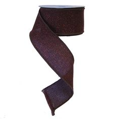 """Fabric with Glitter Ribbon Color: Chocolate with Copper Glitter Size: 2.5"""" in width; 10 yards in length Wired Edges Material: 100% Polyester"""