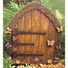 I Believe in Fairies Door: Fairy Garden Landscaping Miniature Door