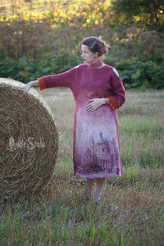 Платья ручной работы. Платье из войлока