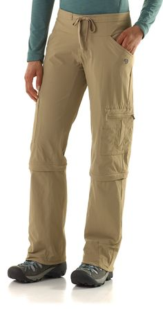 Mountain Hardwear Yuma Convertible Pants - the first pair of zip-off pants I've seen that are actually somewhat attractive.