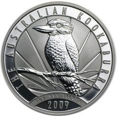 Moneda 10 onzas de plata 10$ Australia Kookaburra 2009