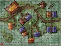 swamp map town maps fantasy village elven dnd dragons dungeons rpg pathfinder dungeon tower crazy dd elventower maker building buildings