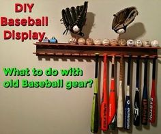 inventionhardware.com DIY Baseball Bat Display Rack